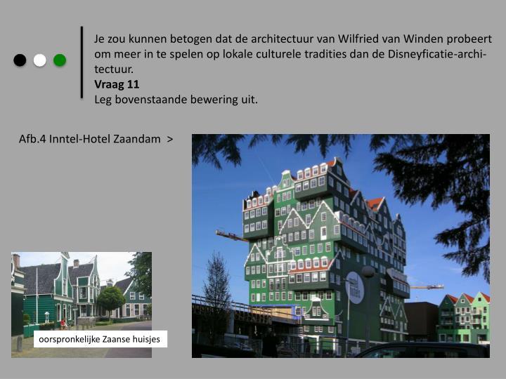Je zou kunnen betogen dat de architectuur van Wilfried van Winden probeert