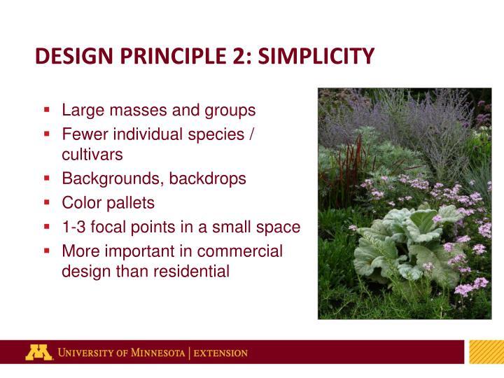 DESIGN PRINCIPLE 2: SIMPLICITY