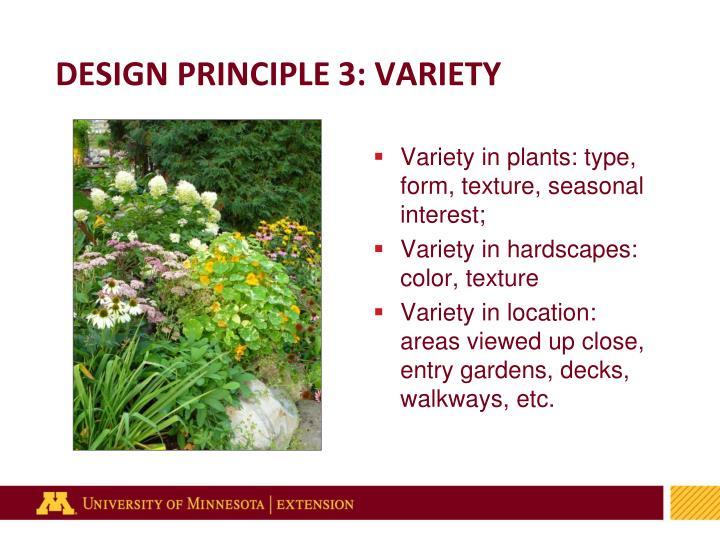 DESIGN PRINCIPLE 3: VARIETY