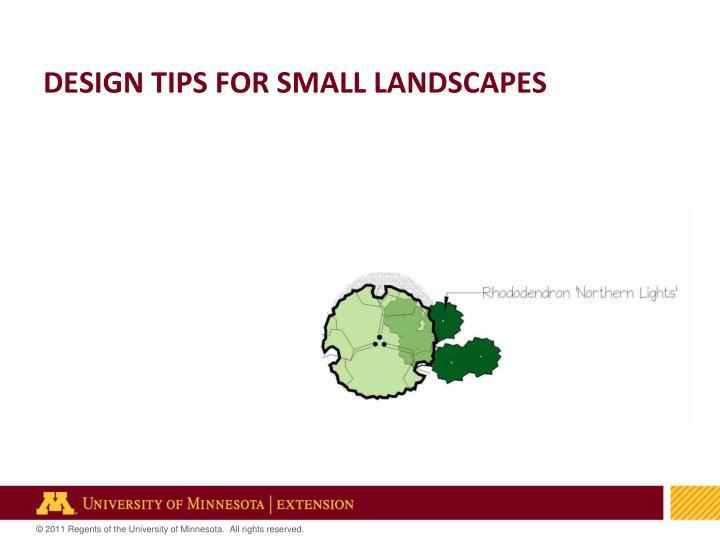 Design tips for small landscapes