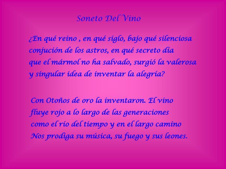 Soneto Del Vino