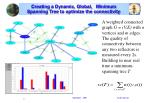 creating a dynamic global minimum spanning tree to optimize the connectivity