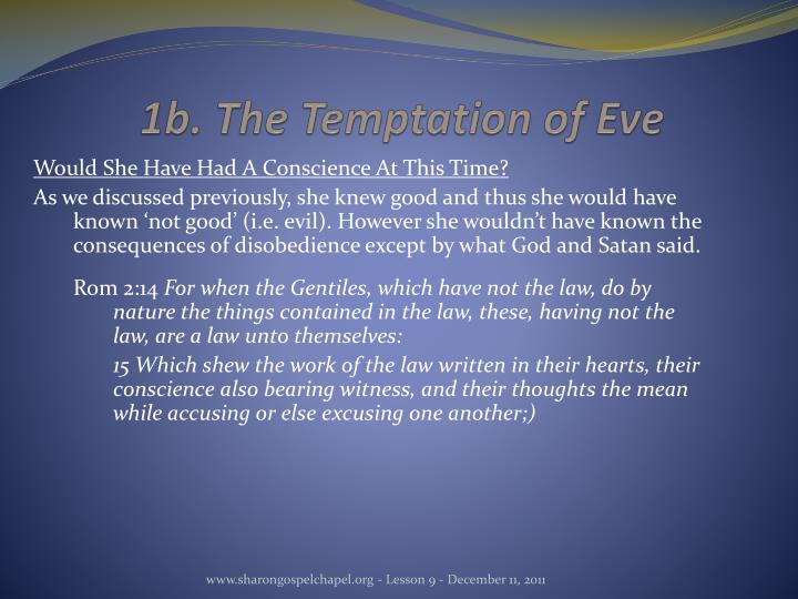 1b. The Temptation of Eve