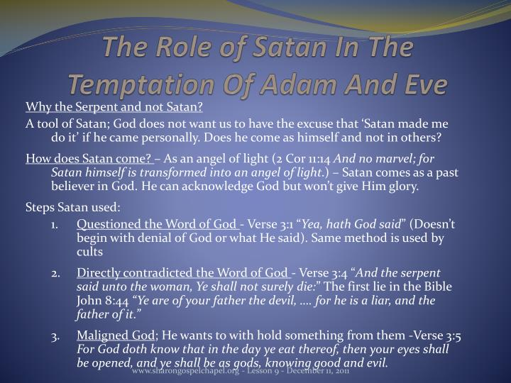 The Role of Satan In The Temptation Of Adam And Eve