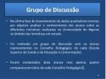 grupo de discuss o1