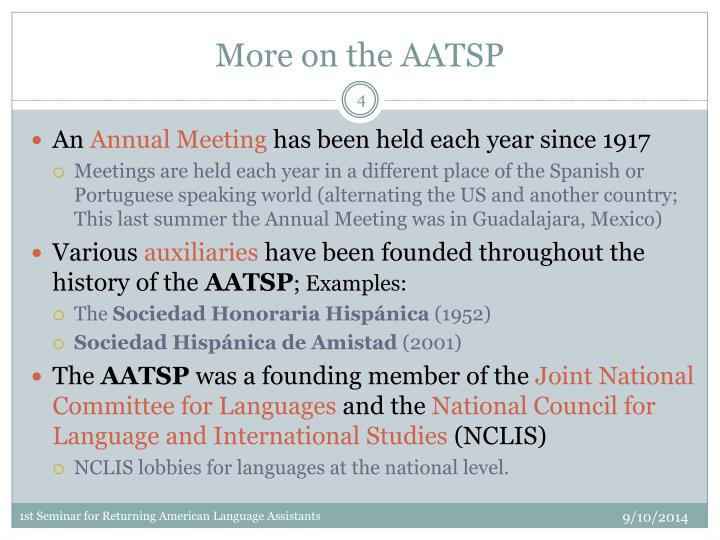 More on the AATSP