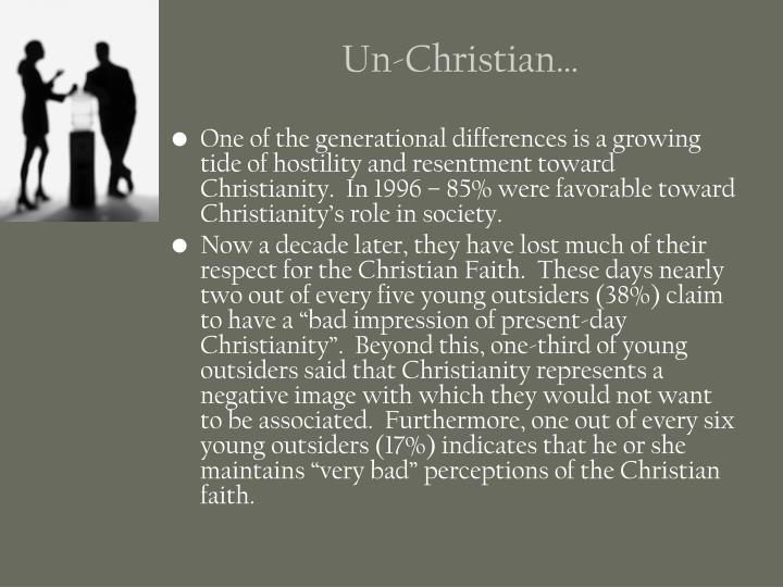 Un-Christian…