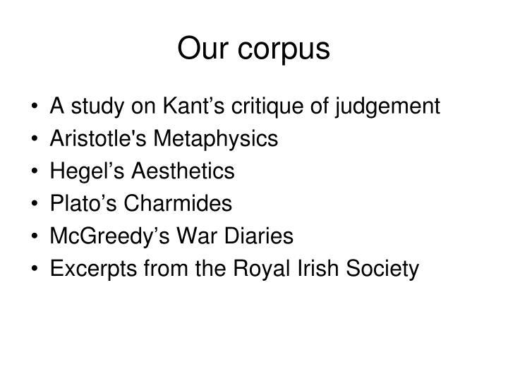 Our corpus