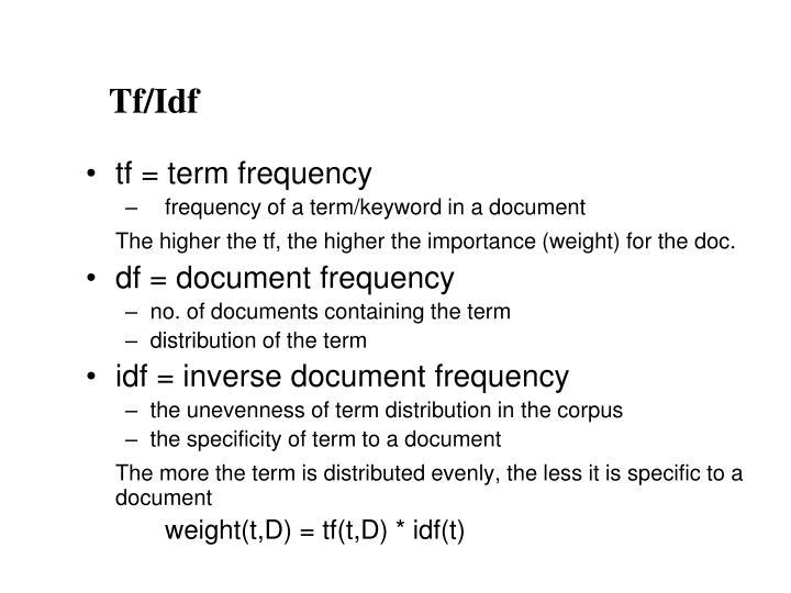 Tf/Idf
