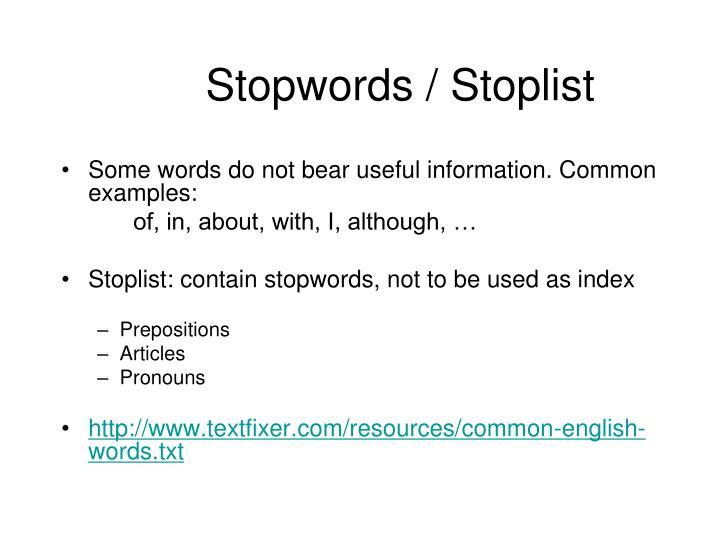 Stopwords