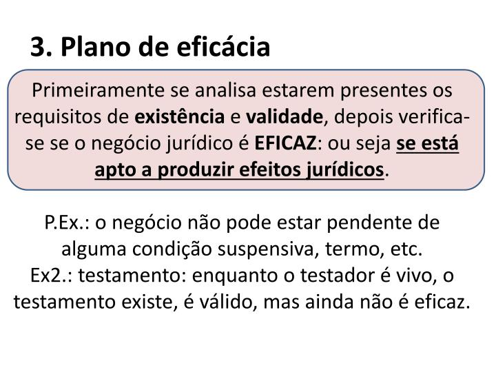 3. Plano de eficácia