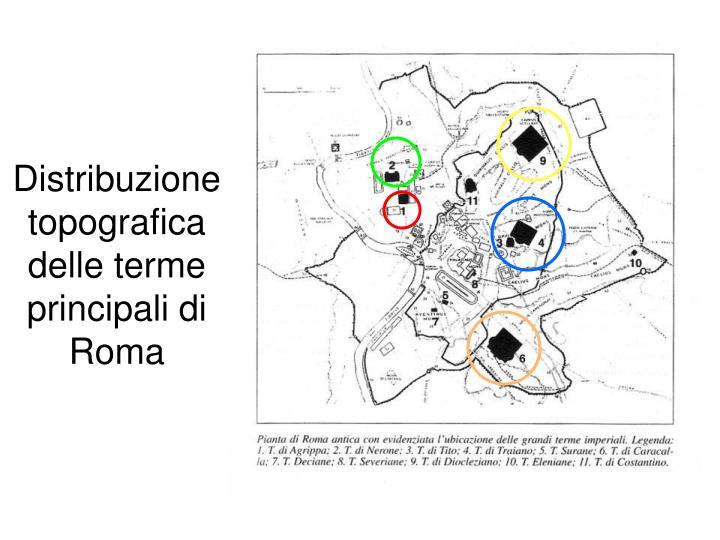 Distribuzione topografica delle terme principali di Roma