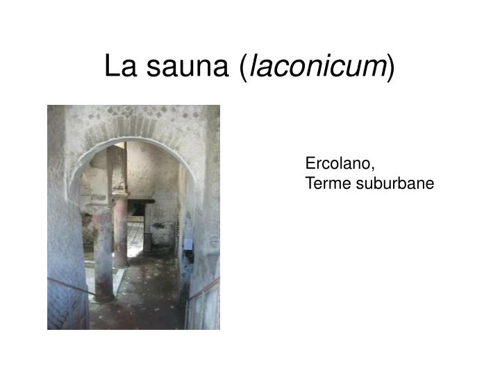 La sauna (