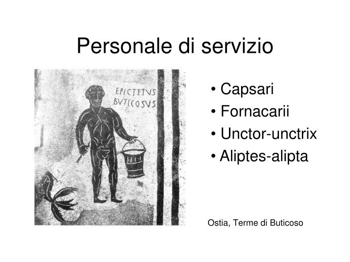 Personale di servizio