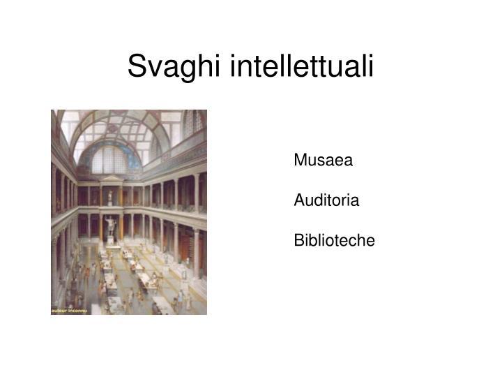 Svaghi intellettuali