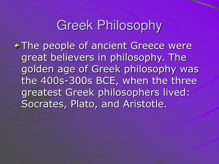 Greek Philosophy
