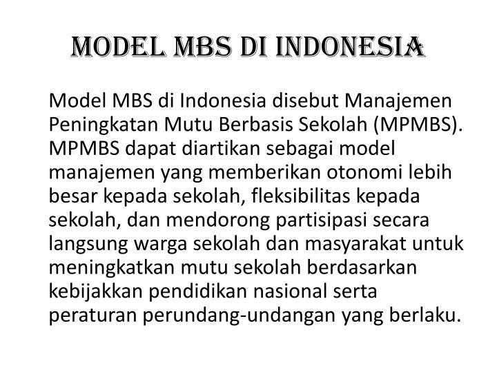 Model MBS