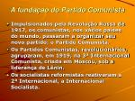 a funda o do partido comunista