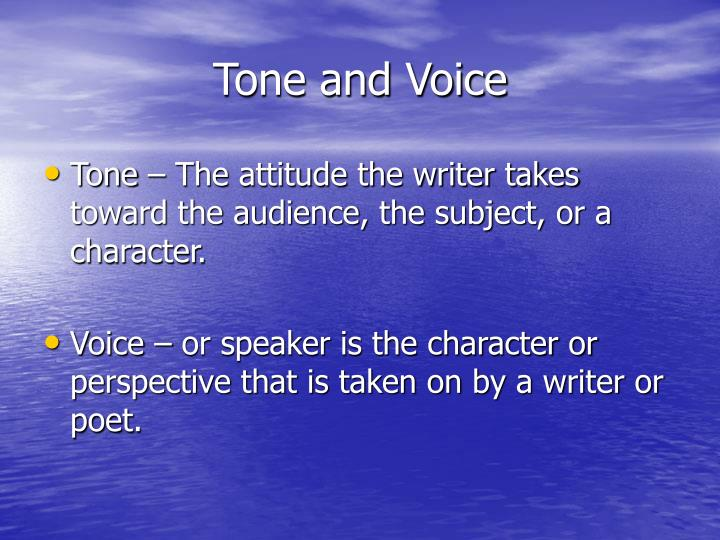 Tone and Voice