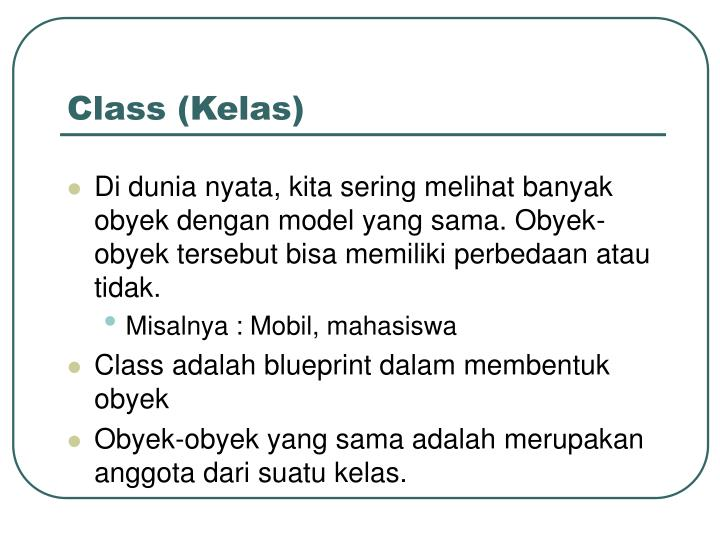 Class (Kelas)