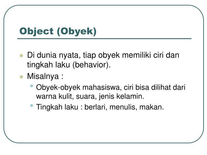 Object (Obyek)