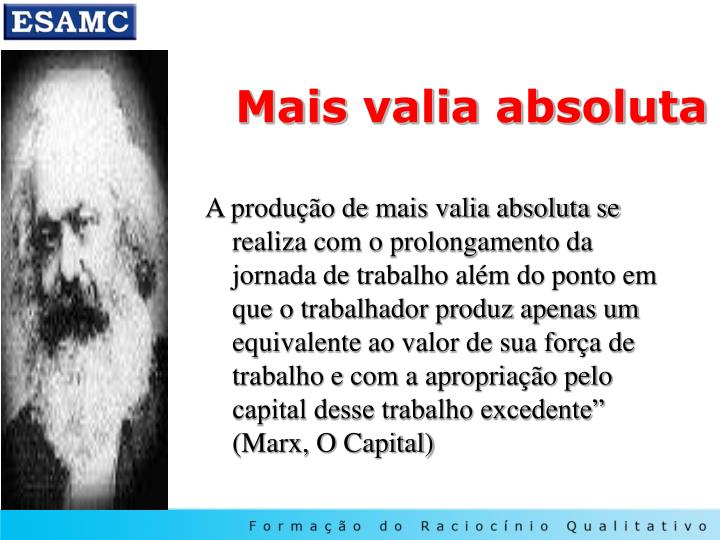 Mais valia absoluta