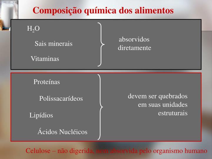 Composição química dos alimentos