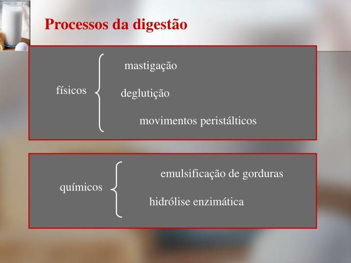 Processos da digestão