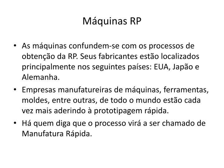 Máquinas RP