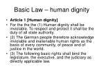 basic law human dignity
