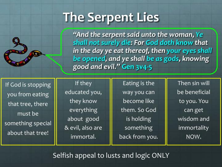 """""""And the serpent said unto the woman,"""