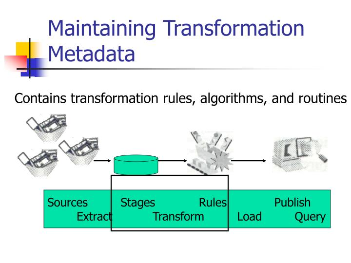 Maintaining Transformation Metadata