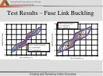 test results fuse link buckling