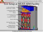 test setup at must sim facility