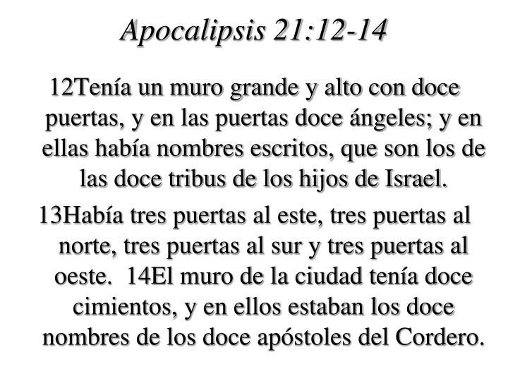 Apocalipsis 21:12-14