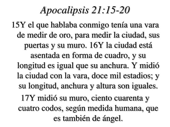 Apocalipsis 21:15-20