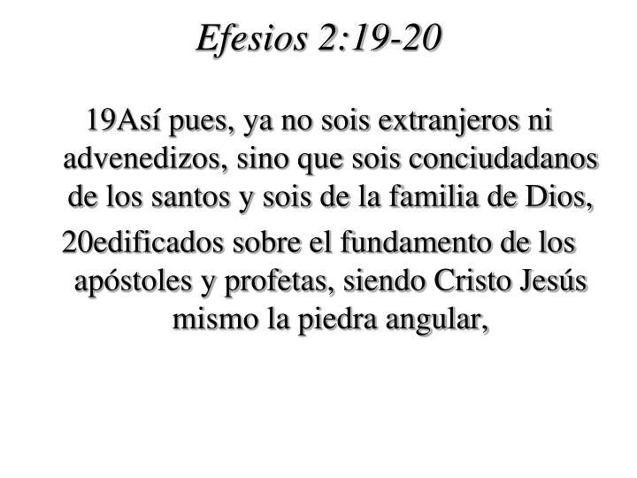 Efesios 2:19-20