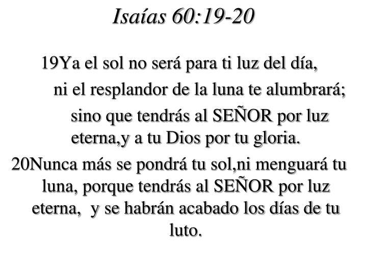 Isaías 60:19-20