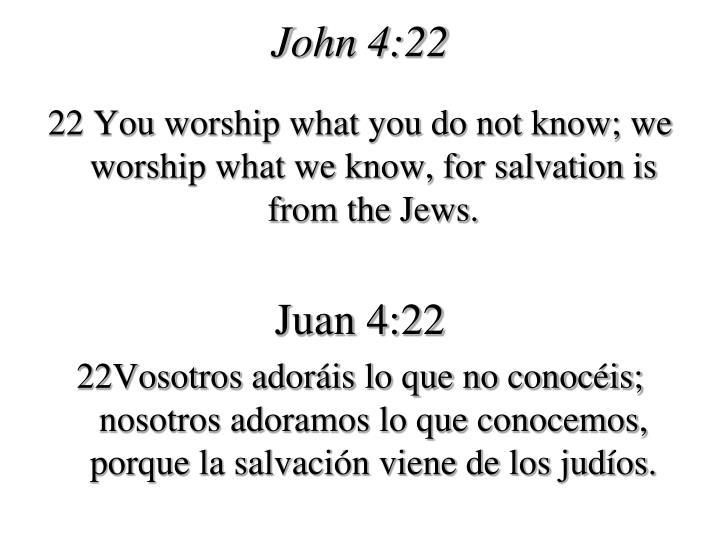 John 4:22