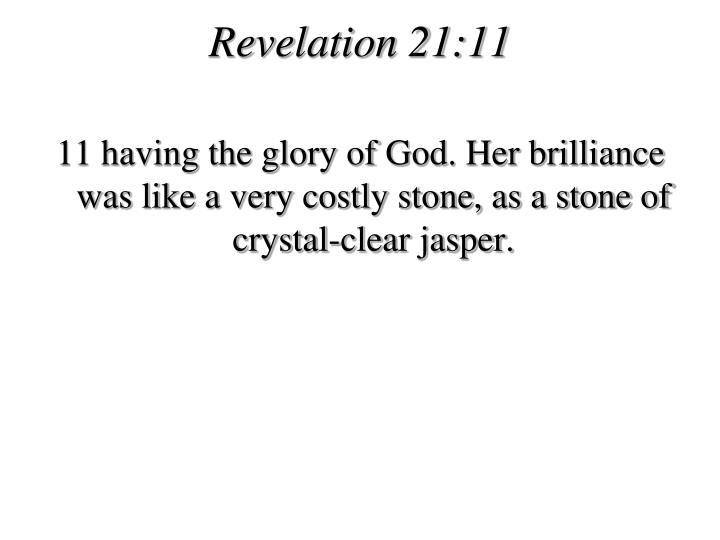 Revelation 21:11