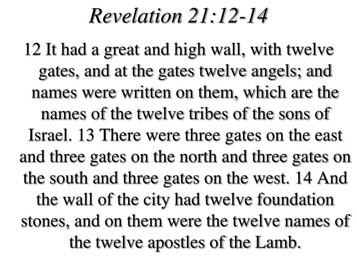 Revelation 21:12-14