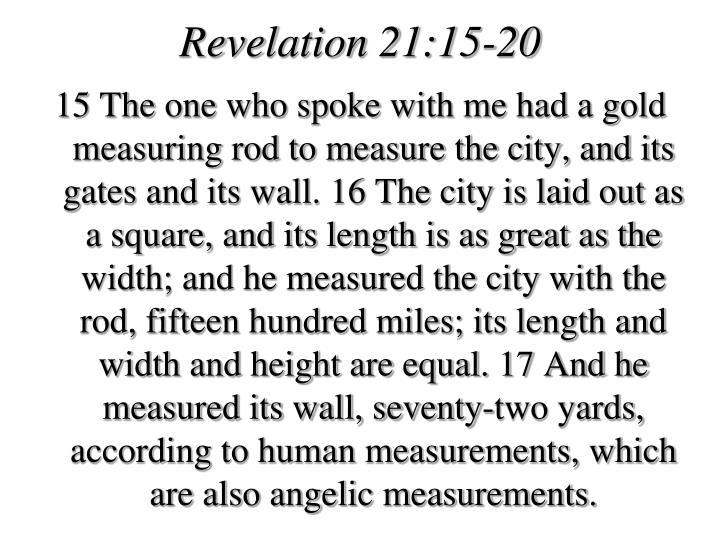Revelation 21:15-20
