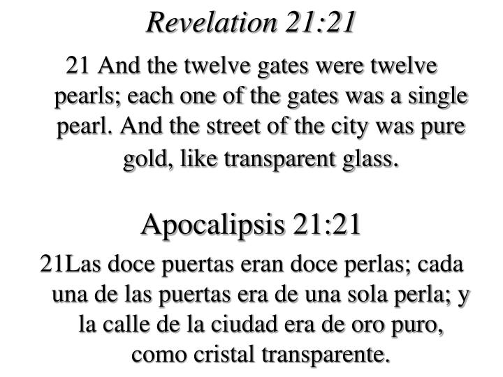Revelation 21:21