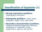 classification of gypsisols 1