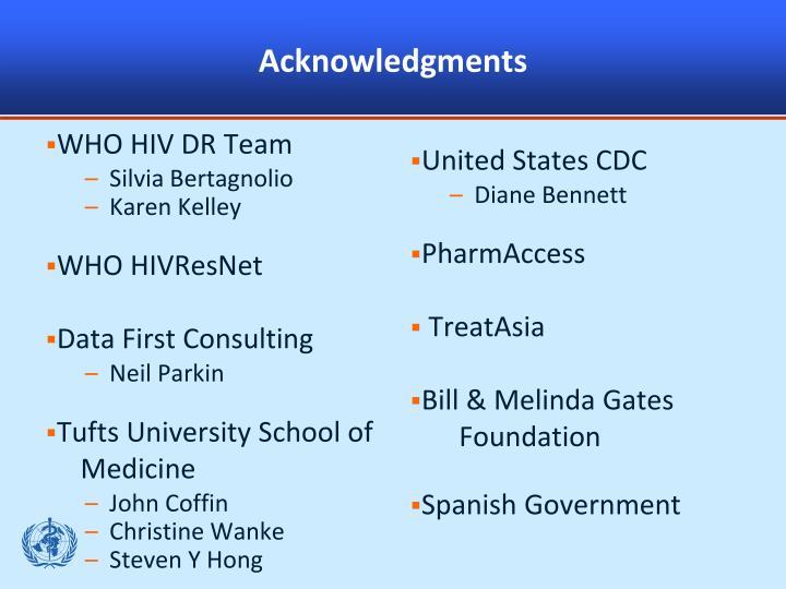 WHO HIV DR Team