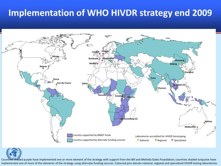 Implementation of WHO HIVDR strategy end 2009