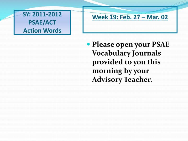 Sy 2011 2012 psae act action words1
