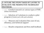 3 outline the steps taken by louvre to evaluate the prospective technology providers