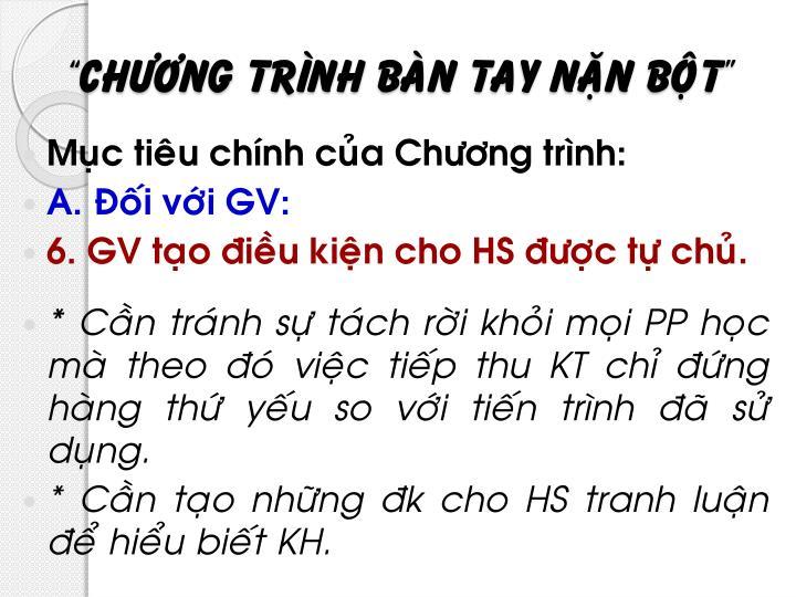 """""""Chöông trình baøn tay naën boät"""""""