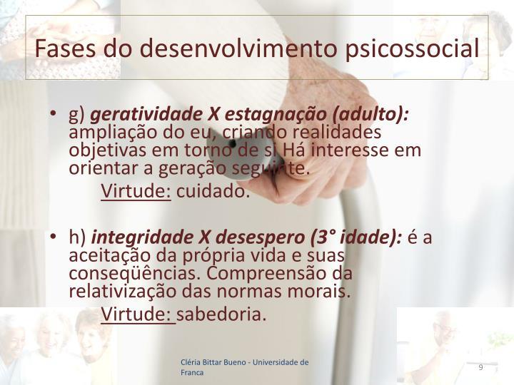 Fases do desenvolvimento psicossocial